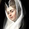 Painting depicting a woman in a nun's head dress