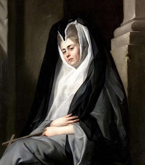 Mrs. Mary Robinson (1758-1800) in the character of a Nun