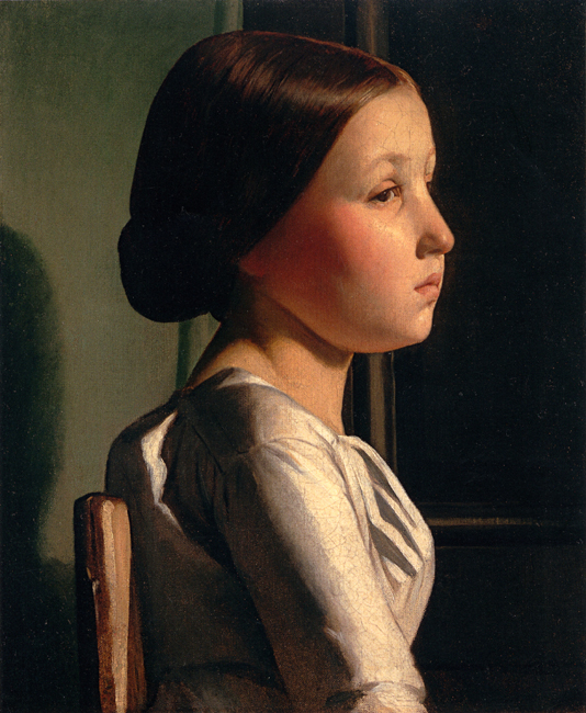 Profile of a seated Girl