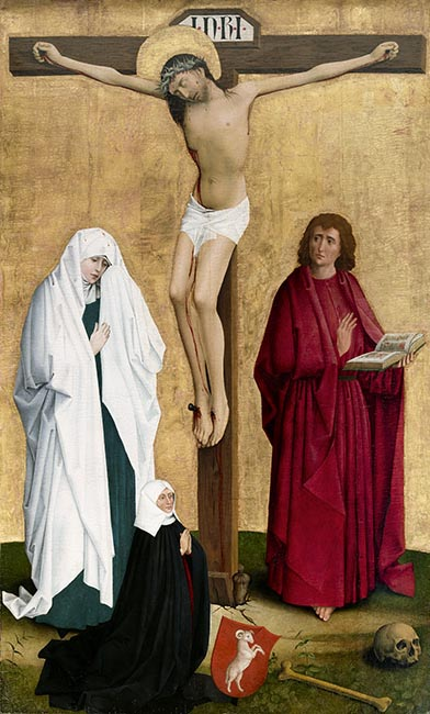 Crucifixion with a member of the von Rammingen family