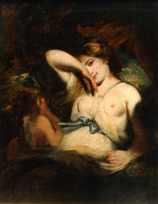 "A Nymph and Cupid or, ""The Snake in the Grass"""
