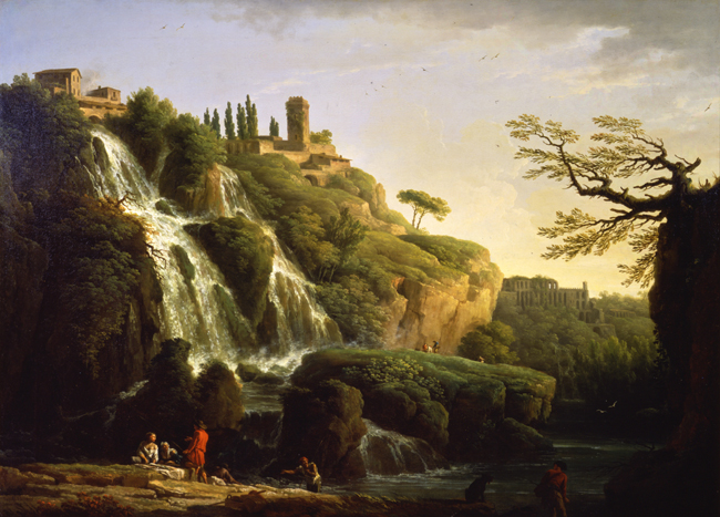 A View of the Waterfall at Tivoli